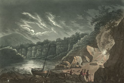 Blowing of lime stone quarries